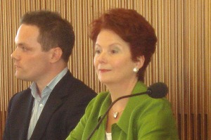Chair, Kevin McKeever with Hazel Blears, MP